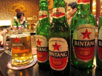 地元のビール。ビンタン